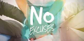 Composite image of no excuses Stock Photo