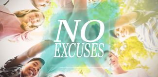 Composite image of no excuses Royalty Free Stock Image
