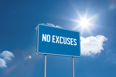 No excuses against sky Stock Photo