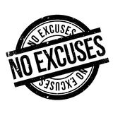 No Excuses rubber stamp Royalty Free Stock Image