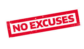 No Excuses rubber stamp Royalty Free Stock Photography