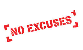 No Excuses rubber stamp Stock Photo