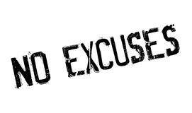 No Excuses rubber stamp Stock Photography