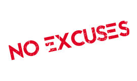 No Excuses rubber stamp Stock Images