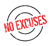 No Excuses rubber stamp. Grunge design with dust scratches. Effects can be easily removed for a clean, crisp look. Color is easily changed Royalty Free Stock Photos