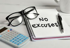 No excuses word Royalty Free Stock Images