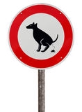 No Exhaust Place For Dogs Sign Stock Photography