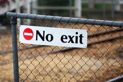 No exit Stock Photo