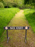No Exit Barrier Sign Stock Photography