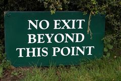 No exit beyond this point sign Royalty Free Stock Image