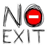 No exit Royalty Free Stock Image