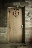 No exit. Graffiti on a fire escape in an abandoned mill Royalty Free Stock Photos