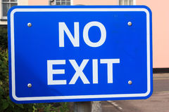 No Exit Sign Stock Photography