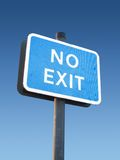 No Exit Sign. A No Exit Sign stock images