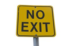 No exit sign Stock Images