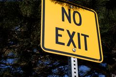 No Exit Stock Image