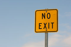 No Exit Sign Stock Photo