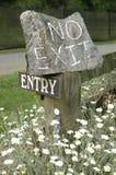 No exit sign Stock Photos