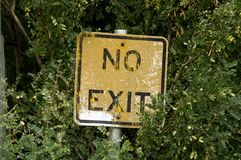 Free No Exit Sign In The Forest Royalty Free Stock Photography - 104926317