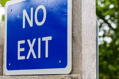 No exit sign information Royalty Free Stock Images