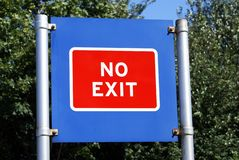No exit sign Royalty Free Stock Images