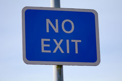 No Exit sign Stock Image