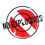 No Explosives rubber stamp Stock Photos