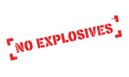 No Explosives rubber stamp Royalty Free Stock Image