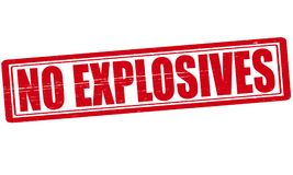 No explosives. Stamp with text no explosives inside,  illustration Stock Photography