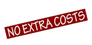 No extra costs. Rubber stamp with text no extra costs inside,  illustration Stock Image