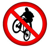 No extreme sports!. Sign illustration: no extreme sports royalty free illustration