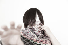 No face woman catch you Royalty Free Stock Photos