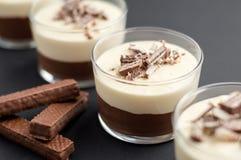 NO--faites le gâteau au fromage cuire au four de mousse de chocolat Image stock