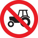 No farm tractor sign Stock Photo