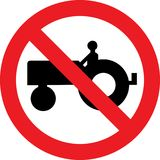 No farm tractor sign Stock Photo