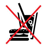 No fast food Royalty Free Stock Image