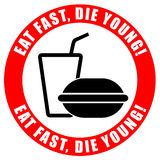 No fast food concept Stock Image