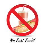 No Fast Food Royalty Free Stock Photos
