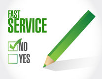 No fast service seal sign concept Royalty Free Stock Images