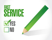No fast service sign concept illustration Stock Photos