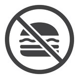 No fastfood glyph icon, fitness and sport,. Unhealthy food sign vector graphics, a solid pattern on a white background, eps 10 stock illustration