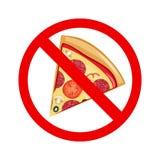 No Fastfood Sign Stock Photo