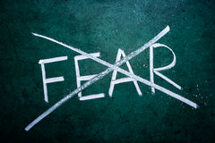 No fear concept. Word on grungy blackboard Royalty Free Stock Image