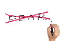 No fear concept. Written on white paper Royalty Free Stock Photo
