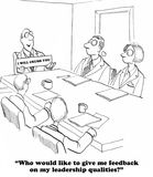 No Feedback. Business cartoon about not wanting any feedback Royalty Free Stock Images