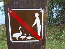 No feeding sign Stock Image