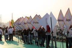29no festival internacional 2018 de la cometa - la India Imágenes de archivo libres de regalías