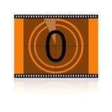 No filme ningún 0 ceros imágenes de archivo libres de regalías