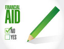 No financial Aid sign concept. Illustration design graphic Royalty Free Stock Photography