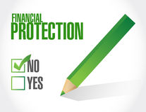 No Financial Protection sign concept. Illustration design graphic Royalty Free Stock Images